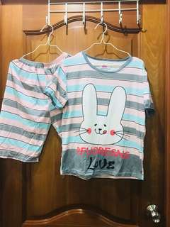 Rabbit 3/4 Sleepwear Set