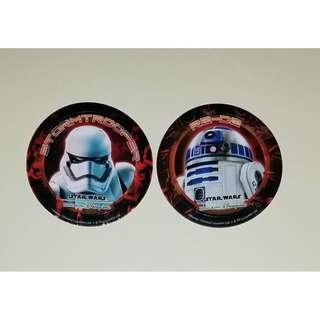 Disney stickers 迪士尼 2016 Star War 仲夏晚會貼紙 一套 2 張 (舊貼紙)