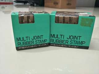 Multi joint rubber stamp