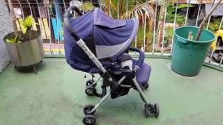 Combi Baby Stroller Blue/Gray Reversible