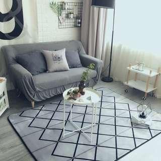Modern Geometric Grey Carpet