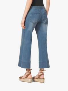 Michael Kors Cropped Sailor Jeans Blue