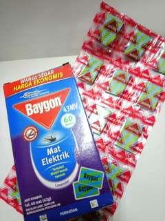 Baygon 迷你蚊香 (每5片,每片3.5 × 2.3 cm)(原味,海洋味, 薰衣草味)