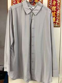 UNIQLO 灰色襯衫 XL
