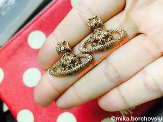 Vivienne Westwood Earrings 耳環 (Pink Gold/玫瑰金)