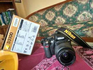 jual CEPAT!  kamera NIKON D3100 Lengkap plus tas