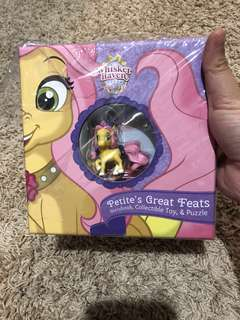 Book with pony toys