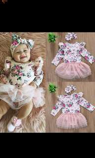 Tutu romper with headband
