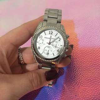 * REDUCED *MK silver watch