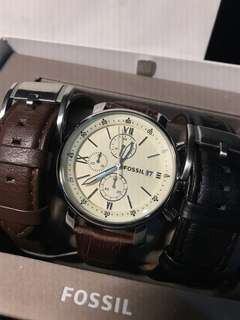 100% Authentic Fossil Dress watch set