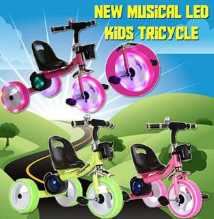 ☆ New Musical Led Kids Tricycle ☆