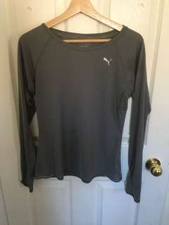 Grey puma workout shirt