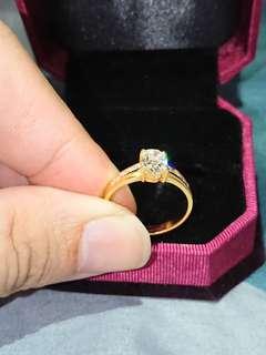 1ct Cincin Diamond Ring 835 Gold