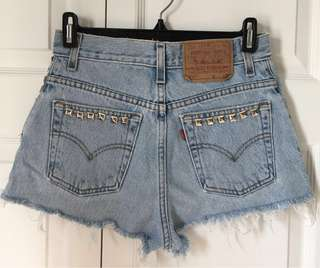 Levi's Studded Distressed Shorts