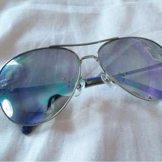 Chanel Purple Pilot Sunglasses