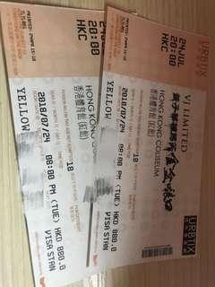 名稱 黃子華 2018 talk show 棟篤笑 880 2張 正面靚位 即日交收 包順豐