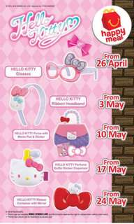 Malaysia MacDonald Happy meal toy Hello Kitty APR-MAY 2018