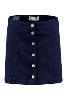Navy blue denim skirt