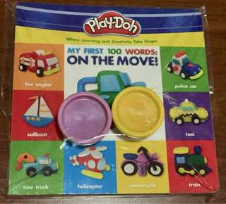 Buku PlayDoh - my first 100 words: on the move!