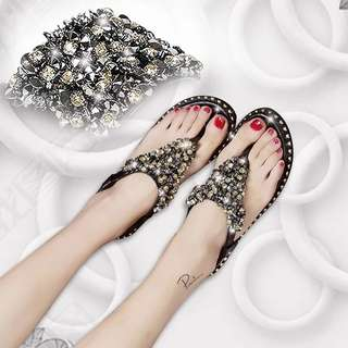 PO Gem Studded Ladies Comfy Sandals
