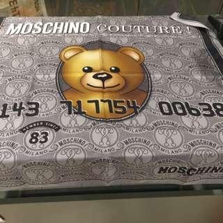 清貨!Moschino 熊仔絲巾 圍巾 方巾