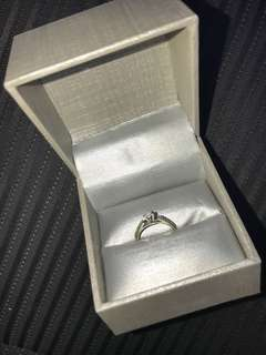 Woman's size 4.5 14K white gold diamond ring