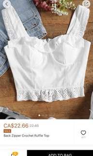 Zaful White Crop Top