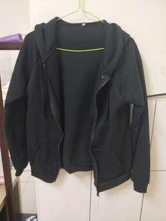 黑色棉質外套