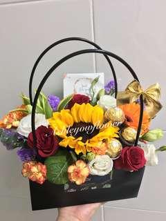 Flower bouquet | Sunflower Bouquet | Flowers  | Mother day flower