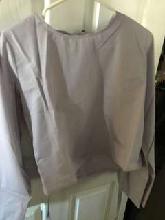 Tie up lilac ASOS blouse