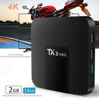 TX3 mini - 2G ram + 16G Rom with 30+ apps for movies, sport, epl , android tv box ,kids channels, Tv box , android tv box, EPL + HBO + Movies , android tv box latest, world cup , setup box , android box , android tv box 4k, TV box, world cup