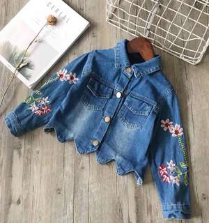 Female Baby Embroidery Cardigan Short Outerwear