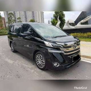 New Vellfire For Rent
