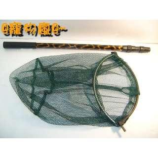 @寵物瘋@~3節伸縮式網框可收折鋁桿撈網抄網.細網目約0.4公分適用如禽舍鳥園等大空間捕鳥或釣魚撈魚重量僅280g