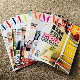 """Vogue Apartment Living"" Magazines - $10 THE LOT"