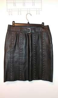 EUC Danier leather skirt