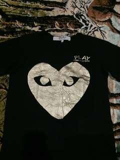 CDG Black Golden Heart Authentic