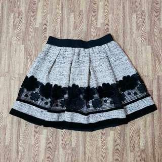Gray Mesh skirt