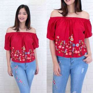 Indica Tops RED S-L free size 019 PHP330