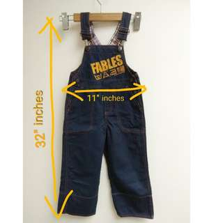 "Fables Kids Overall by ALEXANDRAZ SZ: 2  Long 32"" inches x 11"" inches  $50"