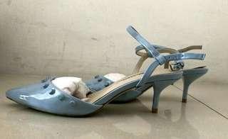 #Hellogajian ! Zara women heels blue untuk kerja
