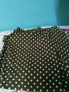Kurung cotton polkadot
