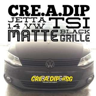 Volkswagen Jetta Plastidip spraying services plasti dip