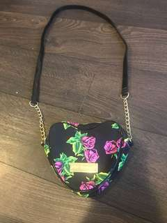 Betsey Johnson heart-shaped purse