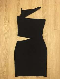 Black Cut Out Bandage Bodycon Dress