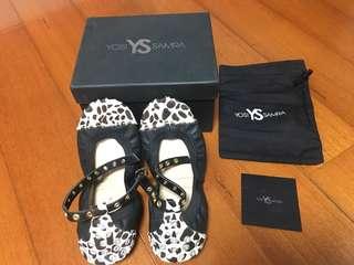 美國YOSI SAMRA  YS黑白紋娃娃鞋