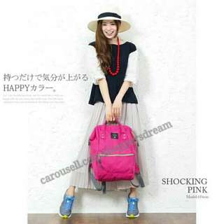 ✳ Shocking Pink Authentic Anello Canvas Backpack