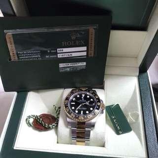 Rolex 116713ln GMT金鋼 勞力士