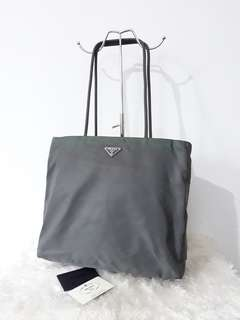 Auth. Prada tote bag with certificate card