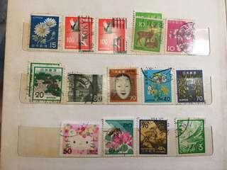 日本郵票。(包郵)